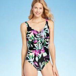 Aqua Green® Women's Tie Front One Piece Swimsuit -